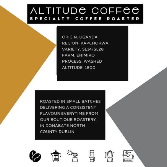 uganda sl14 sl28 kapchorwa washed coffee by altitude coffee
